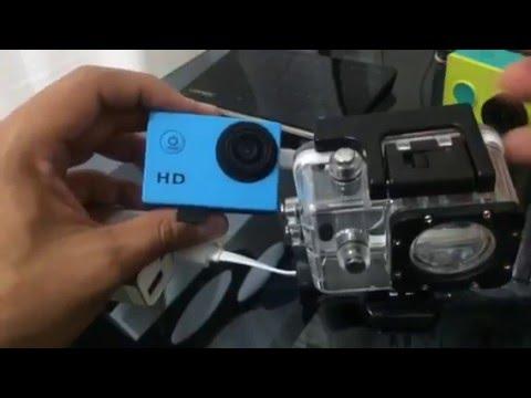 Como abrir la pila y carcasa contra agua de la Sporting cámara de Bancomer ( SJ4000 )