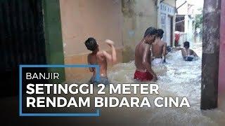 Banjir Setinggi 2 Meter, 200 KK Warga Bidara Cina Mengungsi Di Kelurahan dan Gelanggang