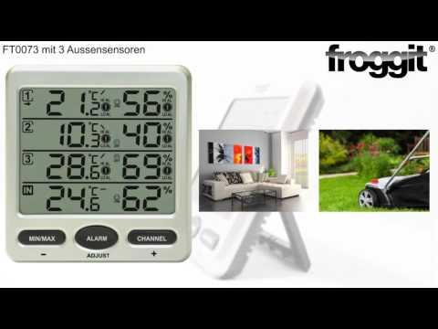 Froggit FT0073 Funkthermometer Klimamomitor Multykanal