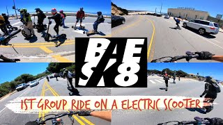 1st BAESK8 Group Ride on a Electric Scooter | Zero 10x | GoPro Hero 7 RAW FPV Bodycam Video Footage