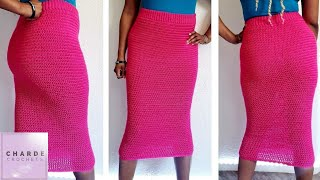 Crochet Perfect Fit Pencil Midi Skirt Tutorial | How To Custom Fit Using Gauge
