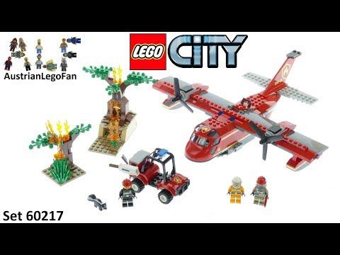 Vidéo LEGO City 60217 : L'avion des pompiers