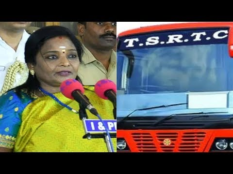 Telangana Governor Tamilisai To Meet With PM Modi & Amit Shah Over TSRTC Strike