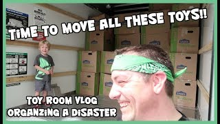 Pixel Dan's Toy Room Vlog - Time to Move These Toys!!