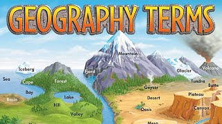 Important Geographical Terms Features Landforms Of Earth