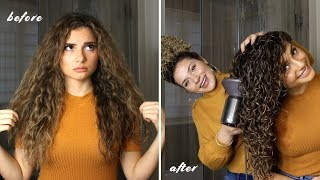 HOW I STYLE MY SISTERS LONG CURLY HAIR FOR THE BEST VOLUME AND DEFINITION