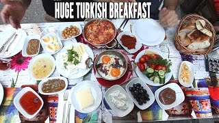 Eating A Huge Turkish Breakfast In Istanbul