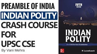 Crash Course On Indian Polity - The Preamble of India By Vani Mehra
