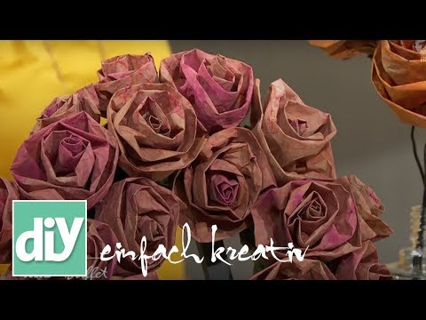 Papierrosen aus Markttüten | DIY einfach kreativ