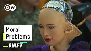 This Robot would let 5 People die | AI on Moral Questions | Sophia answers the Trolley Problem