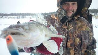 Зимняя рыбалка на реке уса