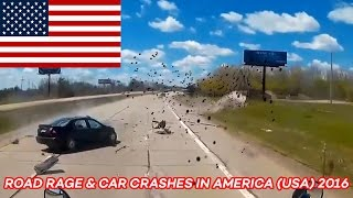 Road Rage & Car Crashes in America (USA) 2016 (Part 4)