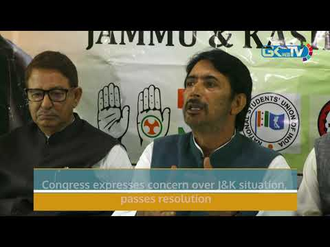 Congress expresses concern over J&K situation, passes resolution
