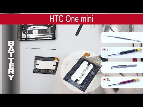How to replace 🔧 🔋 📱 Battery HTC One Mini HTC M4 / 601e / 601s (PO58200) Tutorial