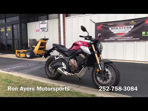 2020 Honda CB650R ABS in Greenville, North Carolina - Video 1