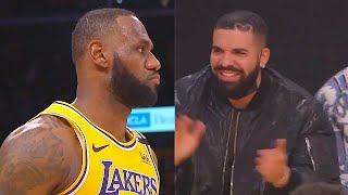 LeBron James IMPRESSES Drake With Game Winner On Stephen Curry! Lakers vs Warriors
