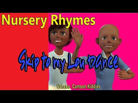 Kids dancing to Skip to My Lou Nursery Rhyme