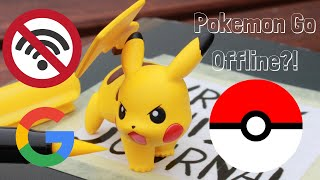 How to play Pokemon GO without using internet! Download maps stop your phone from draining battery!