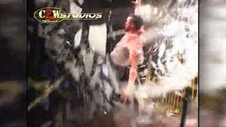 CZW Cage of Death 10: Zandig launches Devon Moore from the top of the cage! (CZWstudios.com)