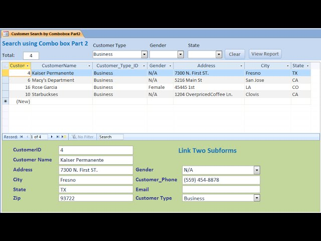 Access: How to Create Search Form Using Combo box Part 1