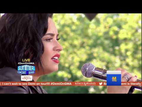 Demi Lovato ( HOLDS  A NOTE FOR 13S!! ) - Stone cold & Brad Paisley (GMA 2016)  She's Amazing!