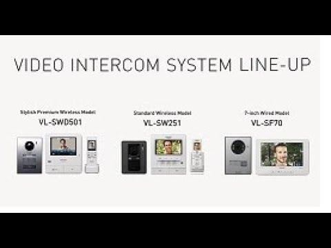 Wireless Video Door Phone System Vl-SW251Sx Panasonic