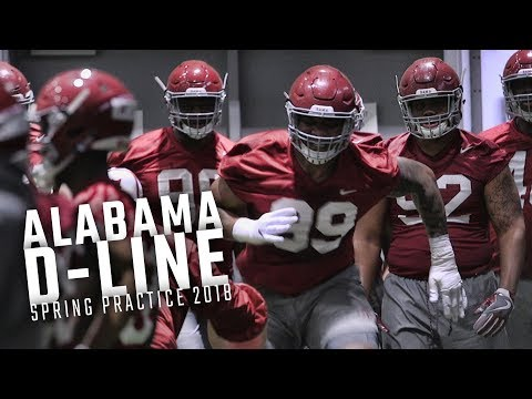 Watch Raekwon Davis, Stephon Wynn and Bama's defensive line during Day 1 of Alabama spring practice