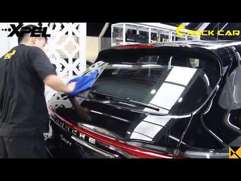 Thi công dán phim cách nhiệt trên Porsche Macan tại Rock car