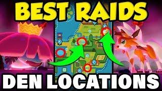 BEST ISLE OF ARMOR RAID LOCATIONS! Pokemon Isle of Armor Den Guide!
