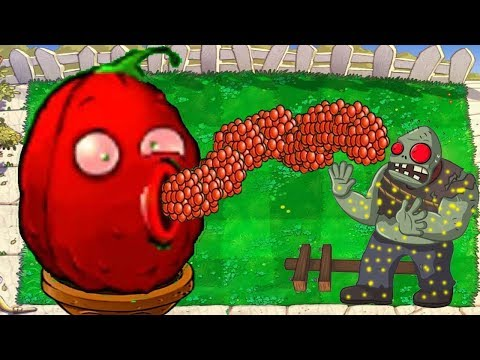 1 RED CACTUS VS 9999 GIGA GARGANTUAR - HACK PLANTS VS ZOMBIES