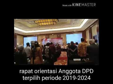 Rapat orientasi Anggota DPD terpilih periode 2019-2024