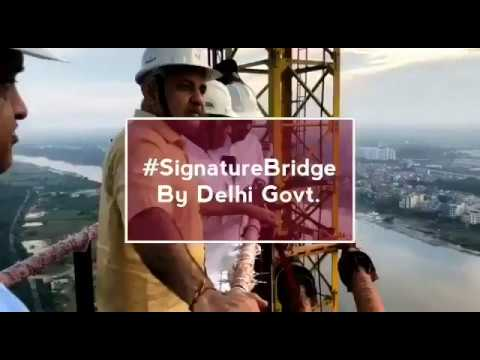 Final Shape Being given to the Signature Bridge. It will open for Public on 31st Oct 18