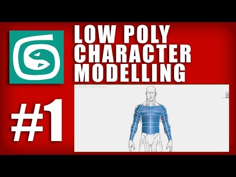 3ds Max Tutorial – #1 – Low Poly Character Box Modelling + How to set up reference image box