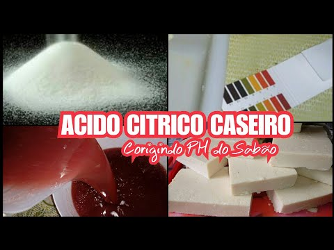 🍋ACIDO CITRICO💦CASEIRO P/ BAIXAR PH DO SABAO🔥TESTE NO VIDEO/Elisangela Evaristo