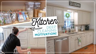 EXTREME KITCHEN DEEP CLEANING MOTIVATION | Kitchen Clean with Me Organization & Declutter 2020!