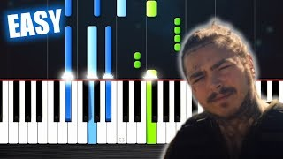 Post Malone   Psycho Ft. Ty Dolla $ign   EASY Piano Tutorial By PlutaX