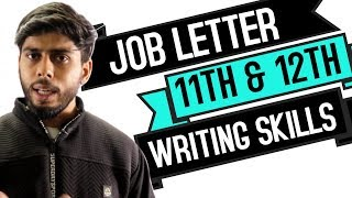 Job Letter for 11th & 12th Class English (Writing Skills)