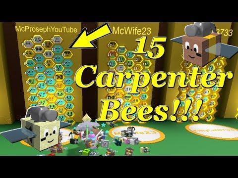 Testing 15 Carpenter Bees! - McProseph Bee Swarm Simulator