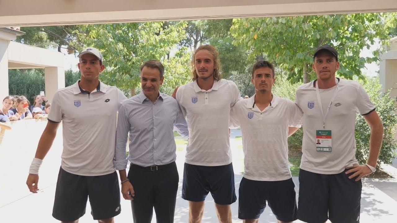Ο Κυριάκος Μητσοτάκης στο Davis Cup