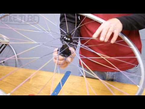 How to Lace a rear wheel 32 spokes non-drive side