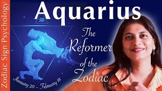 Aquarius Zodiac Sign  Personality  (psychology, Love, Work...)