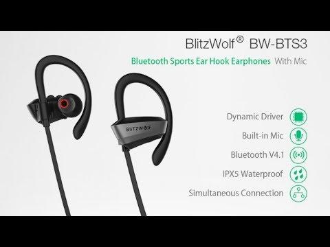 Ecouteurs Bluetooth BlitzWolf® BW-BTS3 Waterproof à moins de 15€