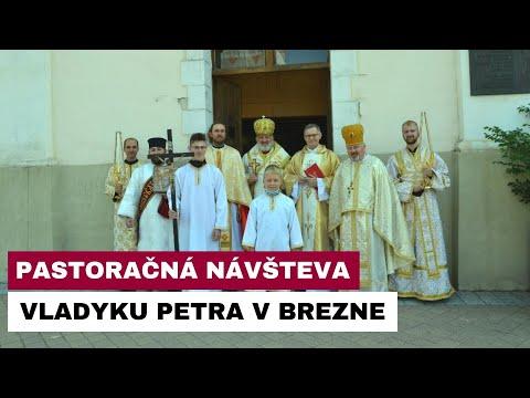Pastoračná návšteva vladyku Petra Rusnáka v Brezne