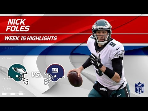 Nick Foles Highlights | Eagles vs. Giants | NFL Wk 15 Player Highlights