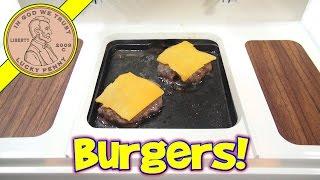 Big Burger Grill, Mini Cheeseburgers & Grilled Cheese! - Miniature Hamburger!