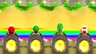 Mario Party 9 - Mario Games - Mario vs Luigi vs Yoshi vs Toad - Minigames (Master CPU)