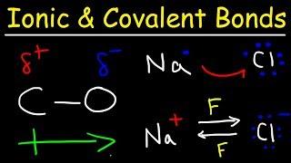 Ionic Bonds, Polar Covalent Bonds, and Nonpolar Covalent Bonds