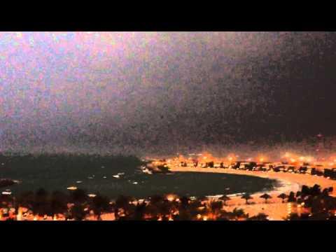 عاصفة رعدية قوية على رأس الخيمة  29 Oct 2012