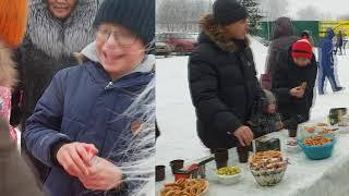 Весело встретили Новый 2019 год с жителями наших посёлков!
