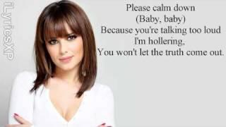 Cheryl Cole feat August Rigo - Better To Lie (Lyrics on screen)